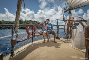Seychelles 35 metre traditional schooner Aft Deck View