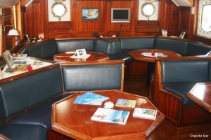 Seychelles 35 metre traditional schooner Dining Salon Area