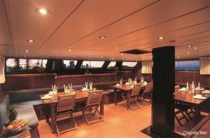 Seychelles 40 metre Sailing Schooner Saloon Dining Area