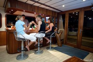 Seychelles 42 metre Ketch Sailing Yacht Bar Area 1