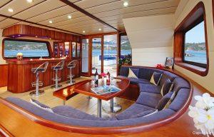 Seychelles 42 metre Ketch Sailing Yacht Lounge Area