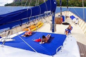 Seychelles 42 metre Ketch Sailing Yacht Sun Deck Area