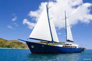 Seychelles 42 metre Ketch Sailing Yacht Under Sail