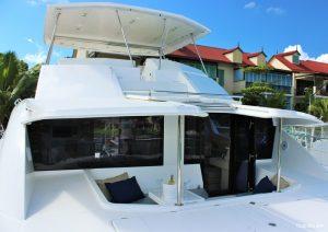 Seychelles 51 ft Power Catamaran Outdoor Seating Area