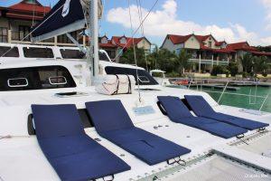 Seychelles 53 ft Luxury Sailing Catamaran Sun Bathing Area