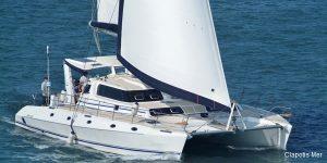 Seychelles 53 ft Luxury Sailing Catamaran Under Sail
