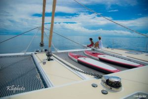 Seychelles 85 ft Luxury Sailing Catamaran Foredeck View