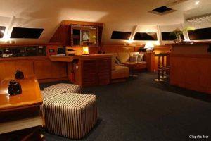 Seychelles 85 ft Luxury Sailing Catamaran Saloon Area