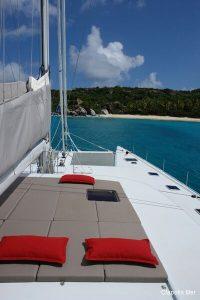 Seychelles 85 ft Luxury Sailing Catamaran Sunbeds
