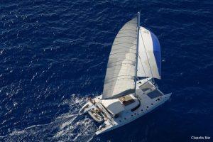 Seychelles 85 ft Luxury Sailing Catamaran Under Sail