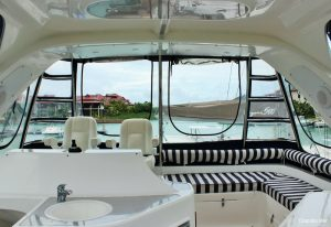 Seychelles Africat 45 ft Power Catamaran Fly Bridge Area
