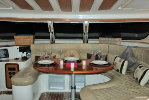 Seychelles Africat 45 ft Power Catamaran Saloon Area 1