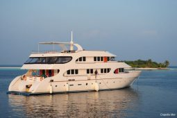 1Maldives 35 metre Motor Yacht on Anchor