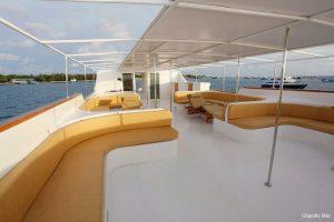 2Maldives 37 metre Deluxe Motor Yacht Upper Deck