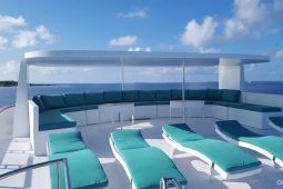 2Maldives 43 metre Luxury Motor Yacht Sun Deck Area