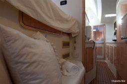 3Maldives Catamaran 440 Hallway to Aft Cabin