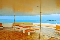 4Maldives 123 ft Luxury Motor Yacht Outdoor Lounge and Sundeck