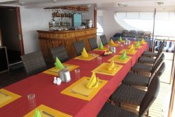 4Maldives 35 metre Motor Yacht Aft Deck Dining Area