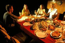 5Maldives 30 m Sailing Schooner Alfdeck Dinner