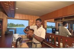 Maldives 110 ft Luxurious Motor Yacht Bar Area
