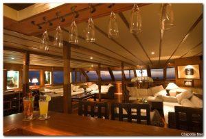 Maldives 110 ft Luxurious Motor Yacht  Saloon Area