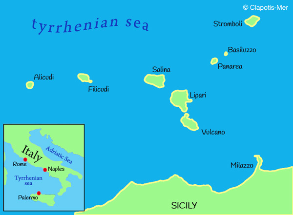 Private yacht charters in the Aeolian Islands sailing from the north coast of Sicily or Lipari