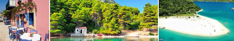 Fiskardo village - Kefallonia · Port Leone - Kalamos island · Marathonisi island - Bay of Zakynthos