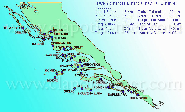 The Archipelagos of Kornati and Zadar, Krka Natural Park - Islands of Molat and Losinj Or Trogir - Brac - Hvar - Vis - Korcula or Solta - Makarska - Lastovo - Mljet