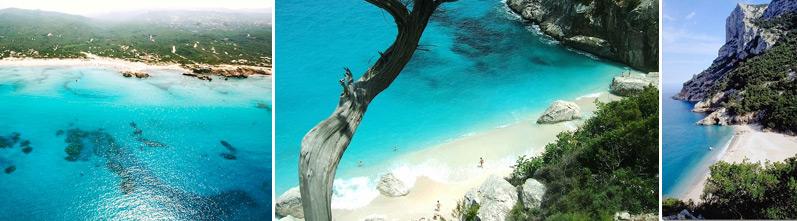 Cala Sisine Beach, North of Arbatax, Sardinia · Cala Rena Majore North Sardinia · Cala Goloritze North Sardinia
