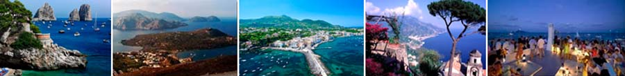 Amalfi Coast & Bay of Naples in Italy & Sardinia/Corsica & Sicily/the Aeolian Islands