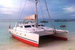 Zanzibar 50 ft Voyage Sailing Catamaran beached