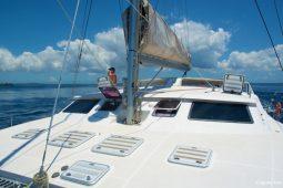 Zanzibar 50 ft Voyage Sailing Catamaran foredeck