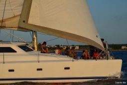 Zanzibar 50 ft Voyage Sailing Catamaran under way