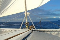 Northern Madagascar 47 ft sailing catamaran Foredeck View