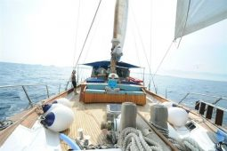 20 metre wooden sloop boat Greece