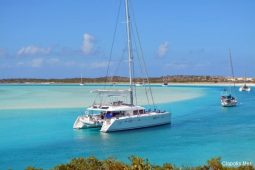 Caribbean Bahamas Lagoon 56 ft Sailing Catamaran anchorage