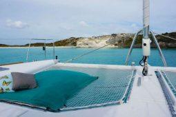 Caribbean Bahamas Lagoon 62 ft Sailing Catamaran OK foredeck