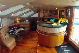 Caribbean Bahamas Privilege 65 ft Sailing Catamaran OK saloon