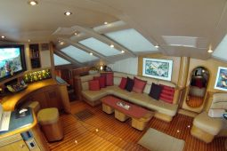 Caribbean Bahamas Privilege 65 ft Sailing Catamaran OK saloon seating area