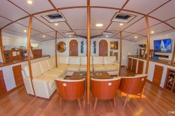 Galapagos Alumarine 22 metre sailing catamaran saloon