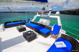 Galapagos Alumarine 23 metre sailing catamaran roof top deck