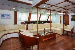 Galapagos Alumarine 23 metre sailing catamaran saloon