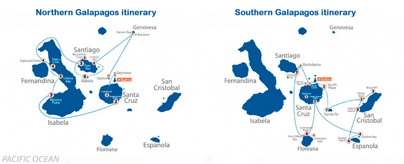 Full board, crewed yacht charter holidays in the Galapagos Islands