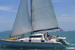 Mergui&Thailand 48 ft Custom Sailing Catamaran under sail