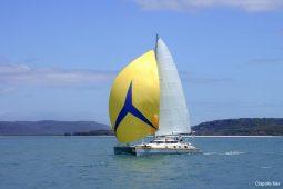 Mergui&Thailand 48 ft Custom Sailing Catamaran under spinnaker