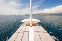 Croatia 32 metre three-masted motor sailing gulet sundeck