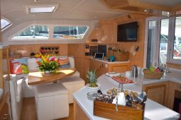 BVI SVI 53 ft Royal Cape Sailing Catamarans Saloon area