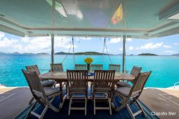 BVI St Barts 58 ft Robertson and Caine Sailing Catamaran aftdeck