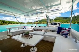 BVI St Barts 58 ft Robertson and Caine Sailing Catamaran flybridge