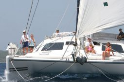 Caribbean BVI 58 ft Voyage catamaran sailing 1